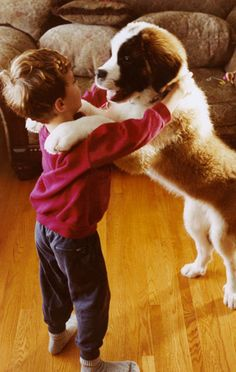 slow dancing with a puppy...