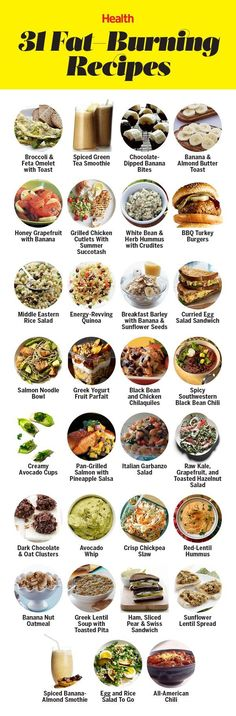 31 delicious and healthy fat-burning recipes: From turkey burgers to banana smoothies, these simple calorie-burning recipes will help you lose weight fast.   Health.com
