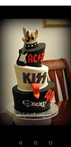 Music Themed Cakes, Music Cakes, Dj Cake, Cupcake Cakes, Crazy Cakes, Fancy Cakes, Rock And Roll Birthday, Cake Pictures, Cake Pics