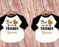 Best Friends Kid's Shirts, Best Friends Forever Shirts, Matching Mommy and Me BFF Shirts, Custom Best Friend Shirts, BFF Matching Shirt set Best Friend T Shirts, Bff Shirts, Best Friend Outfits, Cute Shirts, Shirts For Girls, Kids Shirts, Cheap Kids Clothes, Bff Clothes, Kids Clothing