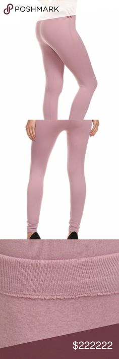 Mauve fleece leggings Warm and comfy! These seamless leggings stretch from small to x large. Pants Leggings