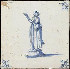 Stadsomroeper. antieke tegel met vrouw - Google Search