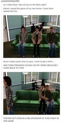 GUYS THIS IS A SIGN. DESTIEL CANNOT BE AVOIDED, IT IS MEANT TO HAPPEN #DESTIEL #SPN #SIMS