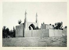 1903 Print Minaret Mosque Isfahan Persia Iran Islamic Muslim Architecture XGED8