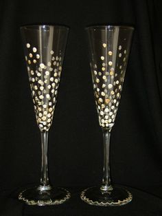 Bubbly Champagne Flutes by UsableArt4U on Etsy, $20.00