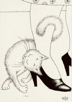 Albert Dubout 'Les chats' 23