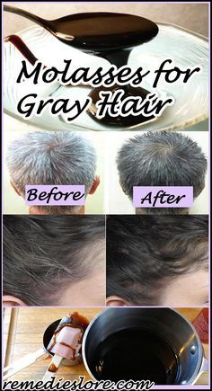 Molasses for Grey Hair #molasses #greyhair http://www.remedieslore.com/molasses-for-grey-hair/