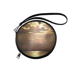 Awesome Sea Scene Round Makeup Bag (Model 1625)