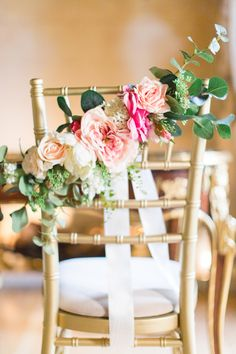 Pink Chair Back For Wedding   Images by Cecelina Photography