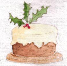 Christmas cake card 2012