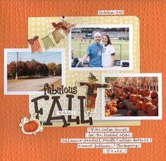 Fabulous Fall Classic Autumn Stickers Scrapbook Layout Project Idea