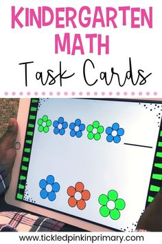 This bundle of Digital Task Cards for Kindergarten Students will give them a chance to work on over 50 math and reading skills for the entire school year! You can use the digital task cards as a whole group or students can play individually on their device - especially if they are doing distance learning!!  As long as you have PowerPoint, the digital task cards should work on any device. #kindergarten #taskcards #digitallearning #ipadgames #digitaltaskcards #remotelearning #distancelearning Number Sense Activities, Kindergarten Math Activities, Activities For Kids, Preschool, Word Patterns, Math Task Cards, Math Facts, Addition And Subtraction, Elementary Math