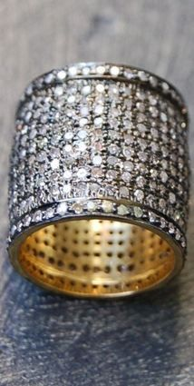 IRONA PFEIFFER Cigar band diamond ring, LOVE.