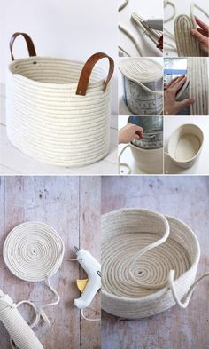 Diy Crafts For Home Decor, Diy Crafts Hacks, Handmade Home Decor, Diy Projects, Handmade Ideas, Handmade Decorations, Rope Decor, Diy Home Accessories, Creation Deco
