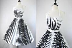 SOOO COOL...Vintage 50s Dress Ceeb of Miami Label