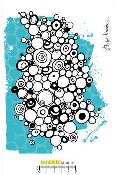 Tampon A5 : Circle And Dots by B. Koopsen Carabelle Studio, Tampons A5 : B. Koopsen - Art Stamp