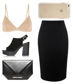 """""""but nooo0"""" by unicxrnniall ❤ liked on Polyvore featuring Alexander McQueen, Base Range, Topshop and Roland Mouret"""