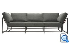 Mix some military-inspired pieces into your interior design repertoire with these sofas from Stephen Kenn's Inheritance series. Available in two or three seat options, each. Apartment Furniture, Table Furniture, Furniture Stores, Unique Furniture, Furniture Design, Sofa Design, Interior Design, Metal Sofa, Black Leather Sofas