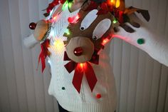 Ugly Christmas Sweater Women Medium Funny by FunnyHolidaySweaters