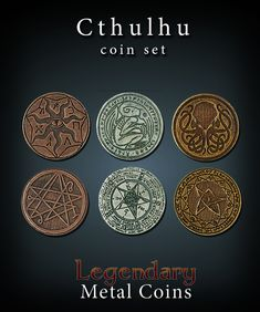 Metal coins for gaming! Each set consists of: 10 copper coins 8 silver coins and 6 gold coins. Fantastic metal coins that will help your games shine!