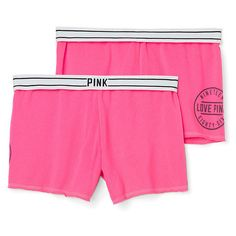 Victoria's Secret Fleece Short (80 BRL) ❤ liked on Polyvore featuring bottoms, vs and neon pink