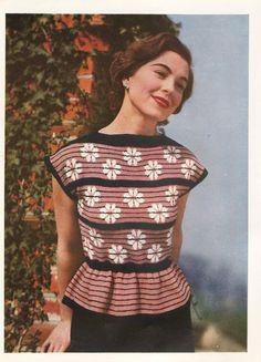 Vintage 1940's Knitting Pattern Lady's Daisy by MaggiesVintageHome, £1.45