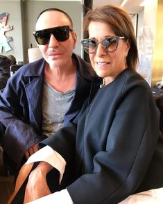 John! Long time no see! So nice to travel with you. #greattalent #johngalliano #maisonmartinmargiela