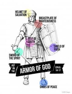 """Put On the Whole Armor of God. - Ephesians 6:11 Put on the whole armour of God, that ye may be able to stand against the wiles of the devil."""""""