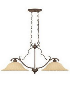 Designers Fountain Lighting 82638 FSN Two Light Island Chandelier in Forged Sienna Finish | Quality Discount Lighting