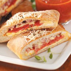 Ham and Cheese Calzones Recipe from Taste of Home -- shared by Shelby Marino of Neptune Beach, Florida