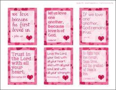 Free Printable Bible Verse Valentines for Kids | RealLifeAtHome.com