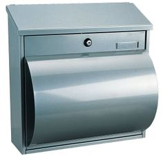 Rottner 204 A4 Wallersee Silver Steel Large Letter Box with Integrated Newspaper Holder: Amazon.co.uk: DIY & Tools
