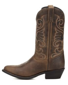Laredo Women's Bridget Round Toe Boot - Tan Distressed