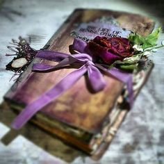 ♥ make a look alike old book or journal...wow!