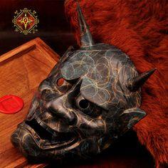 OGRM Bronze Hanya Mask Japanese Buddhism Prajna Ghost Traditional Hannya Mask Carnival Full Face Mask Collectible Arts Crafts