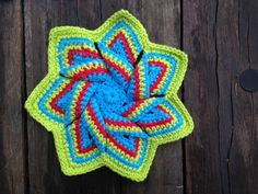 Crochet flower hot pad with pattern link