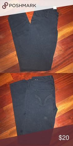 Hollister black skinny jeans Never worn. I'm pretty sure they're jeggings over jeans since the material is a little more stretchy Hollister Jeans Skinny