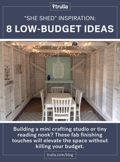 """""""She sheds"""" are the answer to the man cave! Here's home to get one up and running on a budget."""