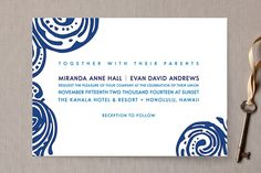Contemporary Chic Wedding Invitations by guess what? at minted.com
