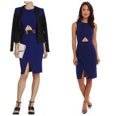 BCBG Deep Royal Blue ANNABEL Sleeveless Cutout Dress Sz 8 $298 #BCBGMAXAZRIA #Cocktail