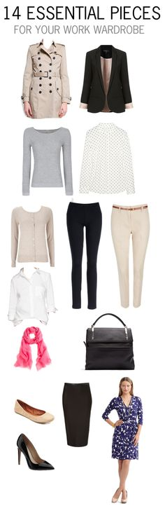 "I recently saw something on Pinterest that I loved—Shopbop designed a ""workwear ultimate closet"" with a few key items and then created 10 work-appropriate looks from those items. Because it's Shopbop,..."