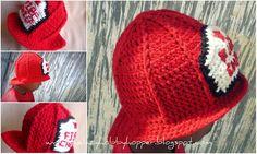 Crochet Fireman's Hat Pattern available in etsy