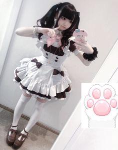 Harajuku Fashion, Kawaii Fashion, Cute Fashion, Fashion Outfits, Gyaru Fashion, Mode Kawaii, Kawaii Goth, Maid Outfit, Maid Dress