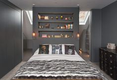 45 Cool Ideas To Use Space Behind The Bed