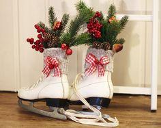 Schlittschuhe Weihnachtsdeko  von Thürmchens Lädchen auf DaWanda.com