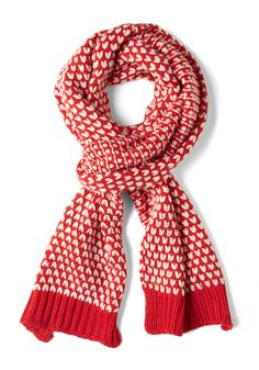 Raising Cane Scarf by Louche - Tan / Cream, Knitted, Winter, Red, Red, Holiday, Top Rated, International Designer