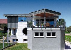 #House with balcony
