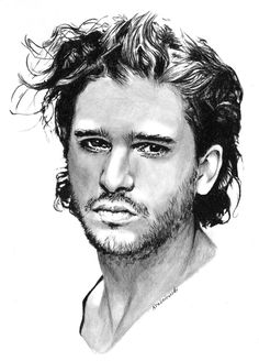 Kit Harington. Pastel