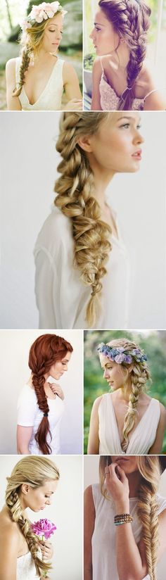 Oh So Romantic! 20 Natural Bohemian Bridal Hairstyles - Side swift braids