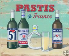 Pastis French vintage poster print by Martin Wiscombe